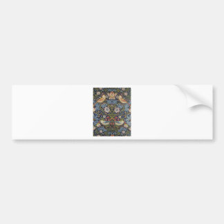 William Morris Strawberry Thief Design 1883 Bumper Sticker