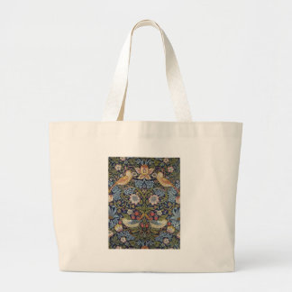 William Morris Strawberry Thief Design 1883 Large Tote Bag