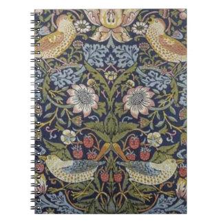 William Morris Strawberry Thief Design 1883 Notebook