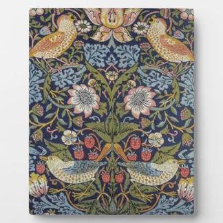 William Morris Strawberry Thief Design 1883 Plaque