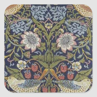 William Morris Strawberry Thief Design 1883 Square Sticker