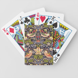 William Morris Strawberry Thief Floral Art Nouveau Bicycle Playing Cards