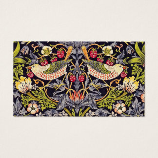 William Morris Strawberry Thief Floral Art Nouveau Business Card