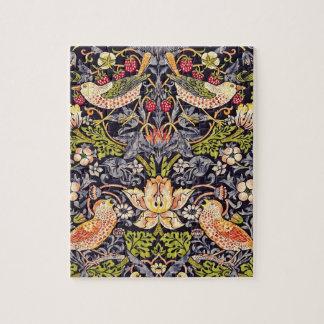 William Morris Strawberry Thief Floral Art Nouveau Jigsaw Puzzle