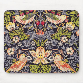 William Morris Strawberry Thief Floral Art Nouveau Mouse Pad
