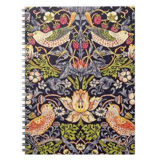William Morris Strawberry Thief Floral Art Nouveau Notebook