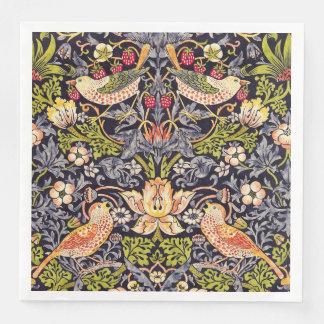 William Morris Strawberry Thief Floral Art Nouveau Paper Napkin