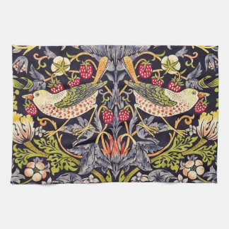 William Morris Strawberry Thief Floral Art Nouveau Tea Towel
