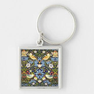 William Morris - Strawberry Thief pattern Key Ring