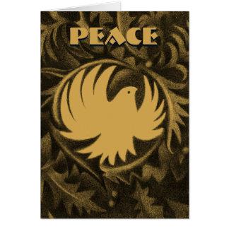 William Morris-style peace dove christmas card