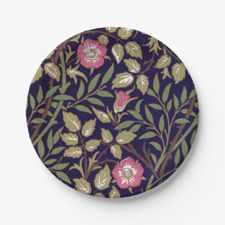 William Morris Sweet Briar Floral Art Nouveau Paper Plate
