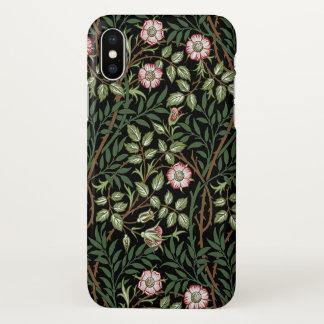 William Morris Sweet Briar Vintage Floral Pattern iPhone X Case