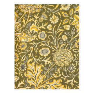 William Morris The Cherwell Design For Velveteen Postcard