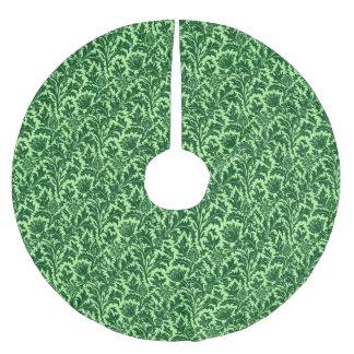 William Morris Thistle Damask, Emerald Green Brushed Polyester Tree Skirt