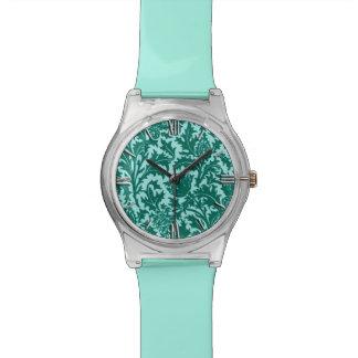 William Morris Thistle Damask, Turquoise and Aqua Watch