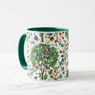 William Morris Tree of Life Pattern, Green & Multi Mug