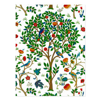 William Morris Tree of Life Pattern, Green & Multi Postcard