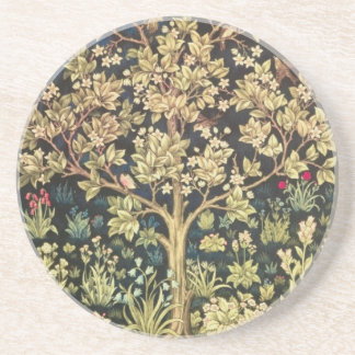 William Morris Tree Of Life Vintage Pre-Raphaelite Coaster
