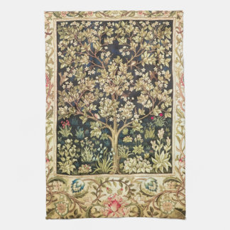 William Morris Tree Of Life Vintage Pre-Raphaelite Kitchen Towel