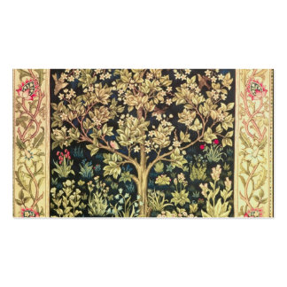 William Morris Tree Of Life Vintage Pre-Raphaelite Pack Of Standard Business Cards