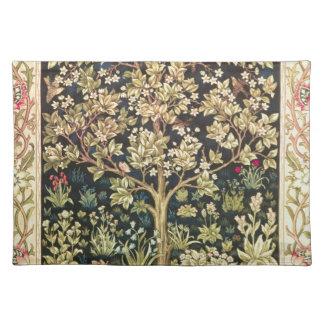William Morris Tree Of Life Vintage Pre-Raphaelite Placemats
