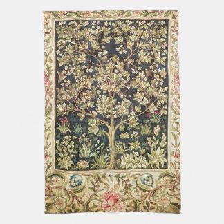 William Morris Tree Of Life Vintage Pre-Raphaelite Towel