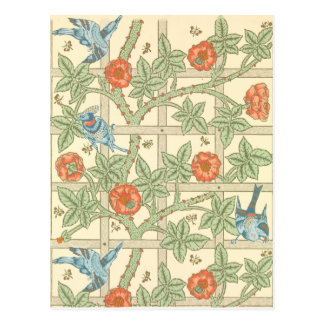 William Morris Trellis Pattern Postcard