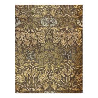 William Morris Tulip and Rose Pattern Postcard