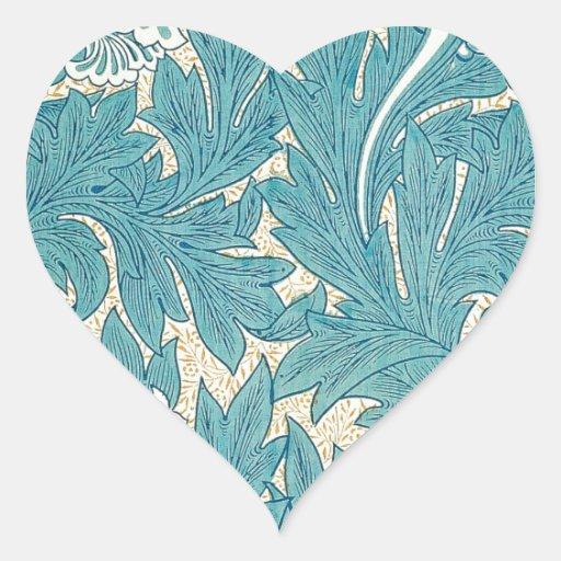 William Morris Tulip Heart Sticker