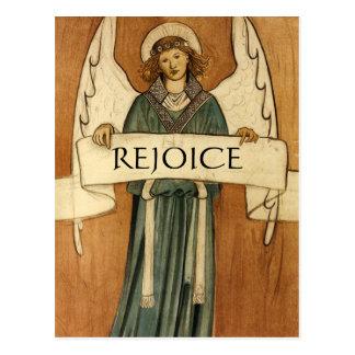 William Morris Vintage Angel Postcard