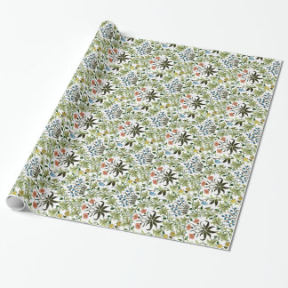 William Morris vintage design, Celadine Wrapping Paper