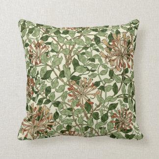 William Morris Vintage Honeysuckle Pattern Cushion