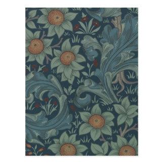 William Morris Vintage Orchard Floral Design Postcard