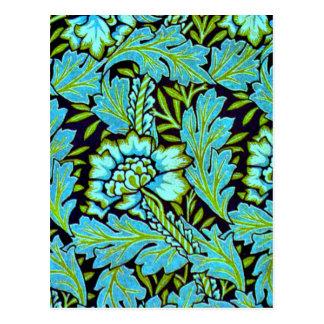 William Morris Vintage Pattern - Anemone Postcard