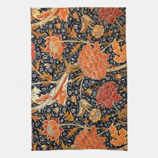 William Morris vintage pattern, Cray Tea Towel