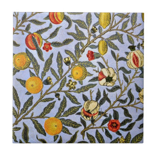 William Morris vintage pattern, Fruit Small Square Tile