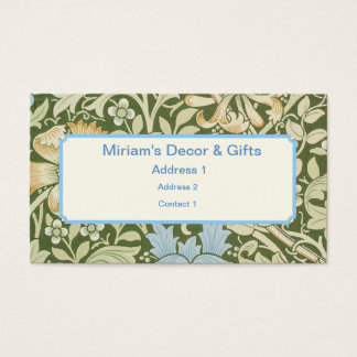 William Morris Wallpaper Designs Business Card