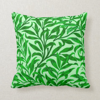 William Morris Willow Bough, Emerald Green Cushion