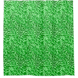 William Morris Willow Bough Emerald Green Shower Curtain