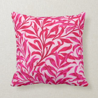 William Morris Willow Bough, Fuchsia Pink Cushion