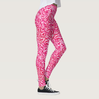 William Morris Willow Bough, Fuchsia Pink Leggings