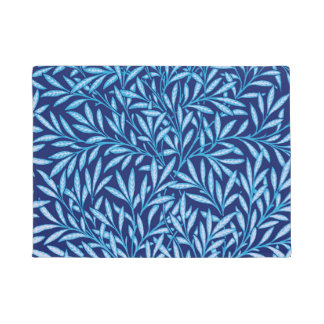 William Morris Willow Pattern, Cobalt Blue Doormat