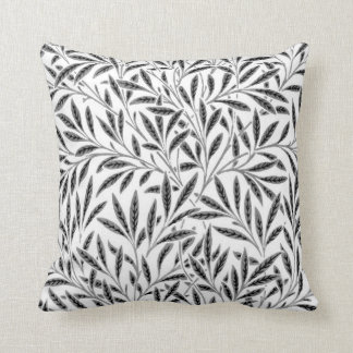 William Morris Willow Pattern, Gray / Grey & White Cushion