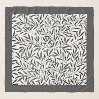 William Morris Willow Pattern, Gray / Grey & White Scarf
