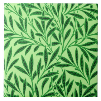 William Morris Willow Pattern, Light Jade Green Ceramic Tile
