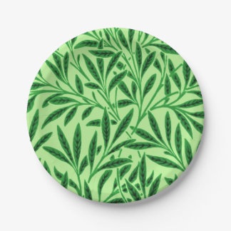 William Morris Willow Pattern, Light Jade Green Paper Plate