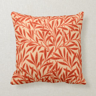 William Morris Willow Pattern, Mandarin Orange Cushion