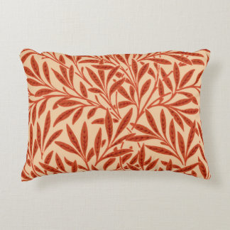 William Morris Willow Pattern, Mandarin Orange Decorative Cushion