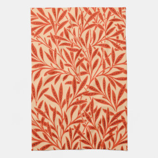 William Morris Willow Pattern, Mandarin Orange Tea Towel