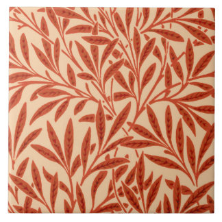 William Morris Willow Pattern, Mandarin Orange Tile